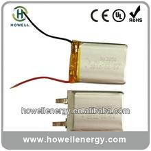 3.7v ultra thin lipo battery/ge power lipo battery/thin lipo battery