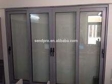 alumínio moldado porta de vidro porta deslizante de alumínio