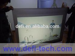 Dark gray desktop screen protector in projection/advertising screen