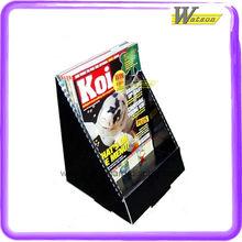 retalho de papelão display de balcão para revistas de koi com projetos personalizados