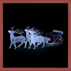Christmas reindeer with Santa's sleigh decoration light 1.2m fancy motif light 2014 new product