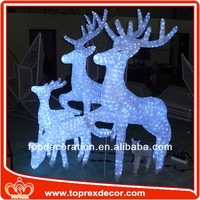 Outdoor Lighted solar deer lights for garden