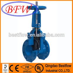 AWWA C509/BS5163/DIN3352 Mss sp stem gate valve pn25
