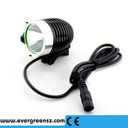 Cheapest & popular!! bike led light, led light bike, bike headlight with real big battery pack 6400mah