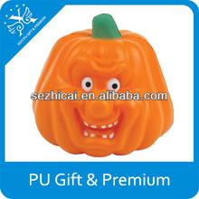 anti-stress toy pu pumpkin pu foam pumpkins for promtion pu stress pumpkin