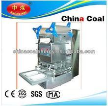 semi-automatic 2 trays sealing machine food tray sealer
