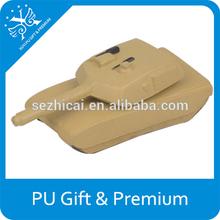 hot sell new mini pu foam stress tank novel pu stress toy tank promotion stress tank