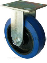 Heavy Duty High Quality Soft Rubber Fixed Industrial Caster Wheel