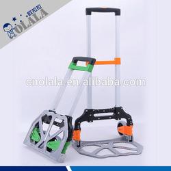 Mini foldable hand trolley,aluminum folding luggage cart