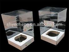Fashion custom eco friendly pvc disposable transparent plastic gift box wholesale manufacturer and exporter