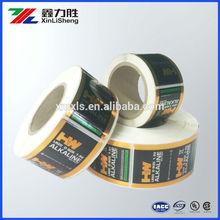 Customized battery shink label / Batter shink film /high quality Industrial PE battery shink label