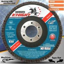 4.5'' Zircon Flap Wheel for Stainless Steel