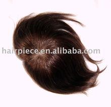 human hair wig machine made man's toupee man's wig human hair extension