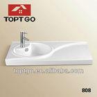 Fashionable Porcelain Counter Top Basin Sink China Manufacturer 808
