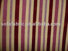 polyester & cotton striped velvet sofa fabric for home textile