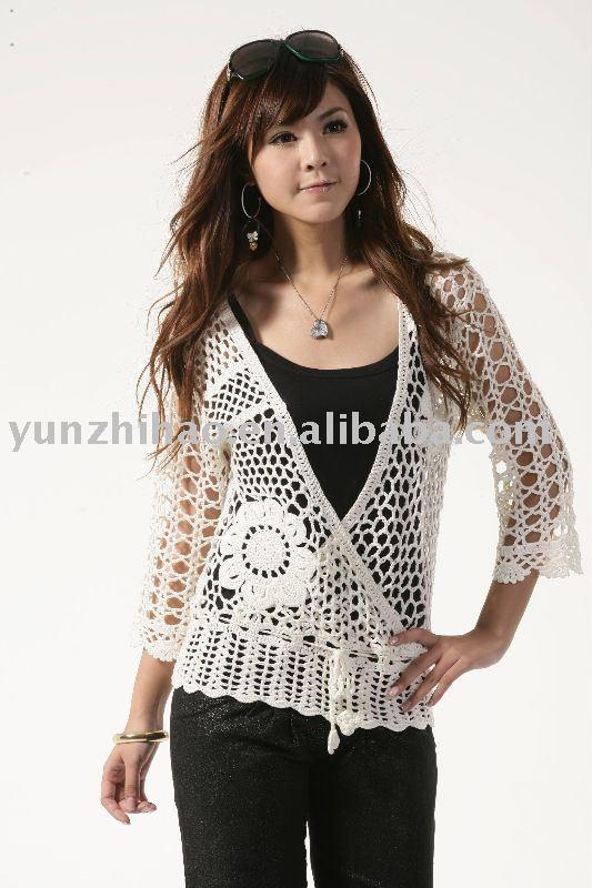 Moda para mujer de la mano de ganchillo suéter-Suéter ...