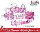Fashion satin travel cosmetic bag set