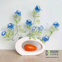 Creative white ceramic art vases modern shapes decorative vase