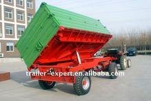 tractor dump farm trailer/sugar cane trailer2 axles trailer/5 tons/rear and side tipping
