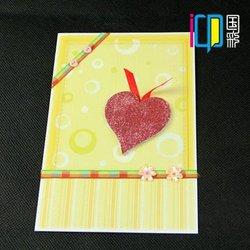 Heart shape 3d wedding invitation card models holder