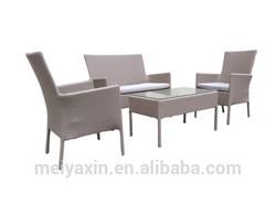 15041 Rattan wicker set 4 pcs out door furniture garden