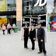 J1A-203 Exclusive! human silver battery powered ads public light box for National Day promotion