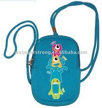 2014 Lastest Design Cute Printing Neoprene Camera Bag with String for Children