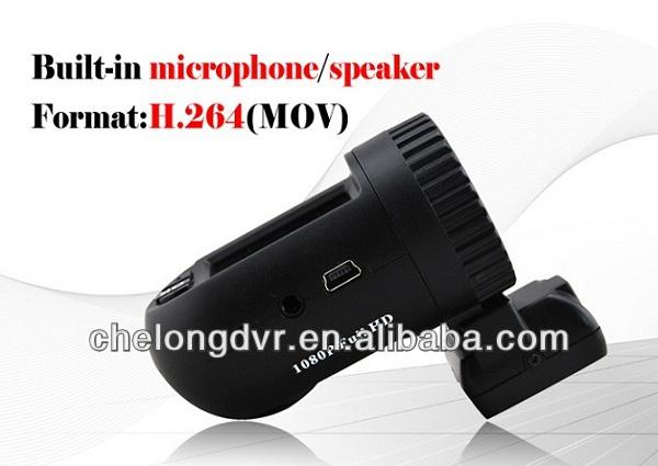 2014 The Best Mini Size 0801 Ambarella 1080p manual car camera hd dvr with GPS