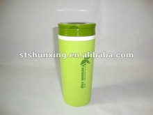 PP Plastic student tea cup / double wall mug 320ML