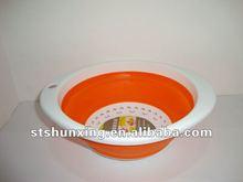 folding plastic multipurpose sieve/basket