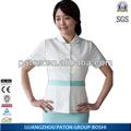 Uniforme de enfermera mu-65 2014 baratos nuevos uniformes médicos scrub top