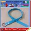 2015 nontoxic silicone rubber golf belt men's fashion silicone belt
