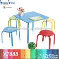 Crianças móveisdemetal mesa e cadeiras 1+4