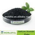 Alta calidad de sodio Humate en escamas, Sodio Humate fertilizante orgánico, Sodio ácidos húmicos fertilizantes