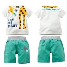 100 cotton bulk kids clothing wholesale,cartoon printing children clothes/kids wear, 2015 fashion kids clothes