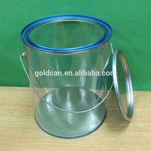 Wholesale fashion transparent plastic drum liter