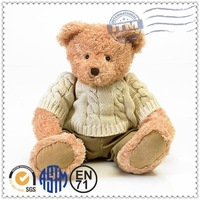 Factory Price Wholesale Custom Stuffed Plush Toys knitted teddy bear sweaters