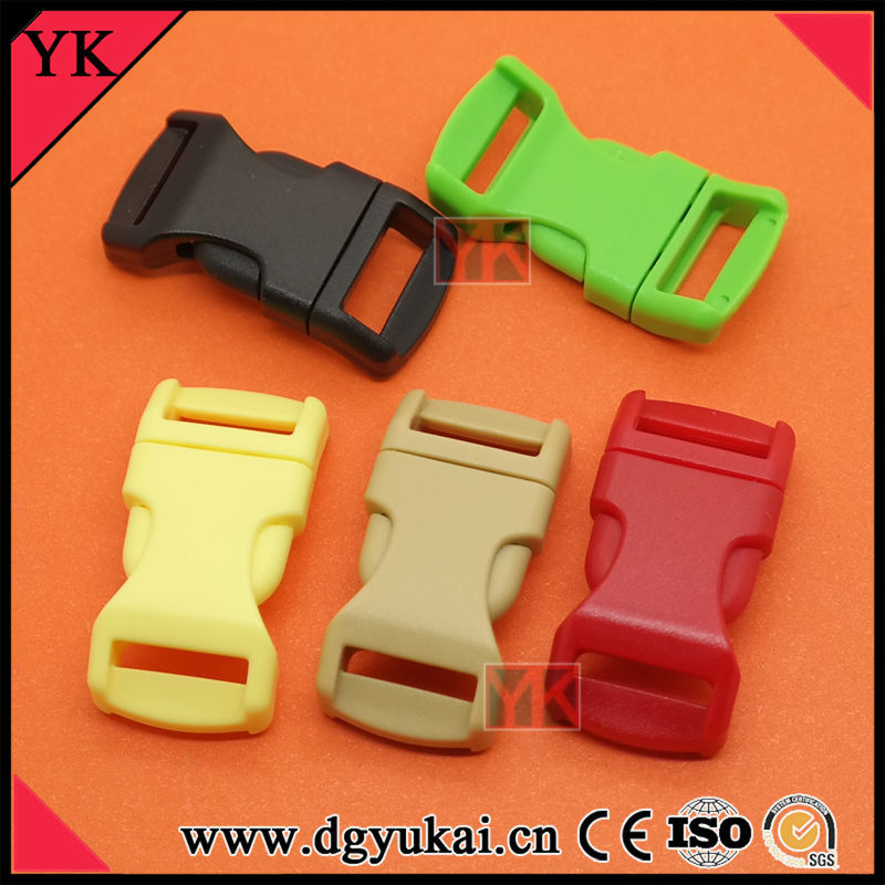 "Colorful 3/8"" Curved Side Release Buckles For Bracelet"