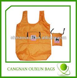 Hottest folding nylon bag,nylon tote bag, nylon foldable shopping bag