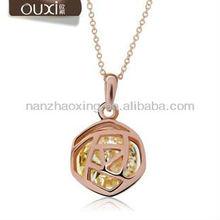 10278-2 OUXI 2014 Austrian Crystal Fashion cute necklaces pendant