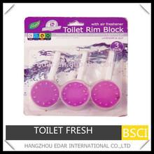 3pcs Toilet rim block air freshener