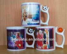 Sublimation Coated Ceramic Coffee Mug With Basketball
