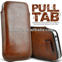 For SAMSUNG GALAXY S3 I9300 PULL TAB PU LEATHER POUCH CASE COVER BROWN