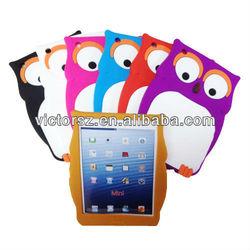 For iPad Mini Owl Case, Animal Owl Silicone Case