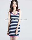 women's New fashion latest style vest dress china supplier