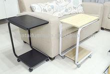Home furniture U-shaped mobile computer desk cheap simple modern u-shaped mobile Bedside table