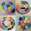 Multishaped Baby Safe Silicone Teething Beads For Jewelry