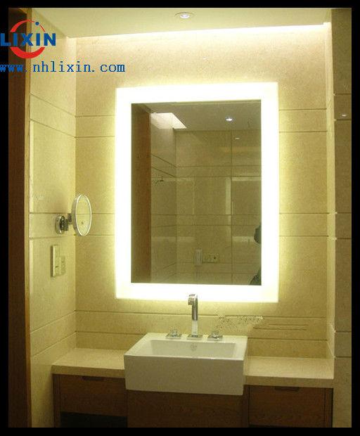 backlit badkamerspiegel, badkamer spiegel met led licht ...