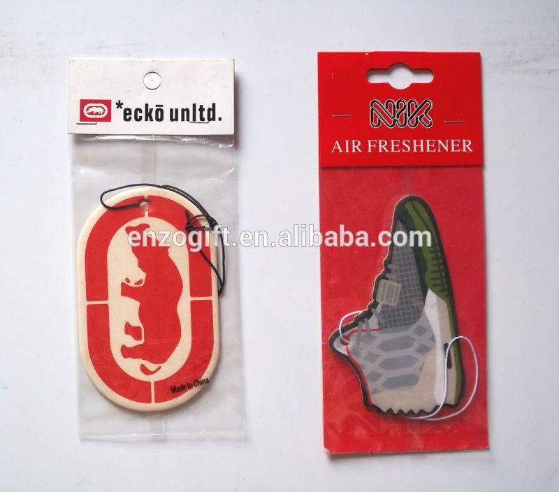 Promoção de purificadores de carro, cartão de papel perfumado, publicidade carro ambientador de papel cartão