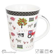 Low MOQ 12oz new bone china cups, 11oz no MOQ farm animals Polka Dot series of new products ceramic cups, wholesale 2014 high-qu